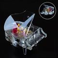 New colorful rose crystal music box piano crystal gifts for Valentine