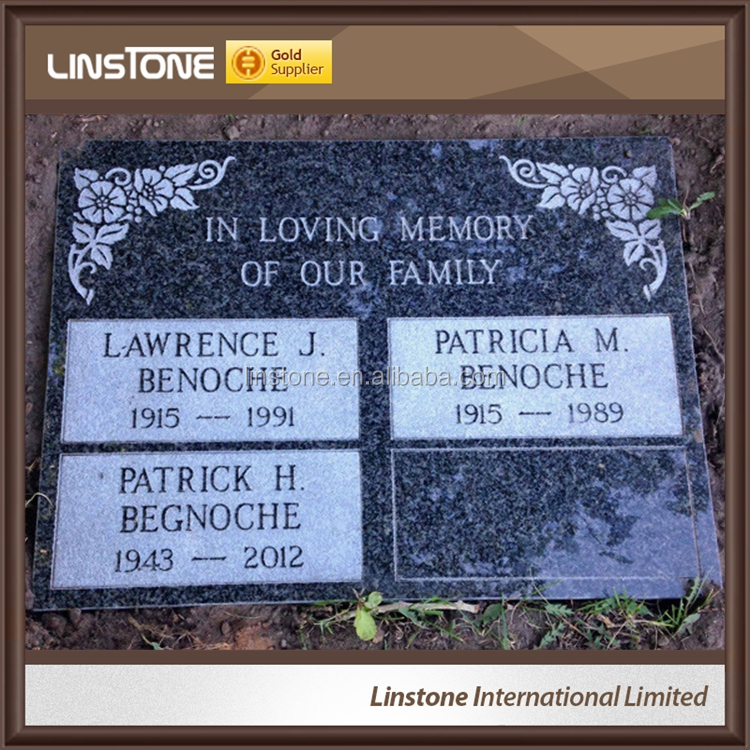 CA Style Flat Marker Headstone Monument For Funeral Homes