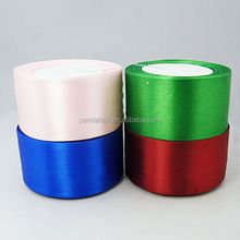 Decorative Wide 50mm Satin Ribbons, Ribbon Suppliers, 25yards/roll, 4rolls/pack(SRIB-RC50mmY)