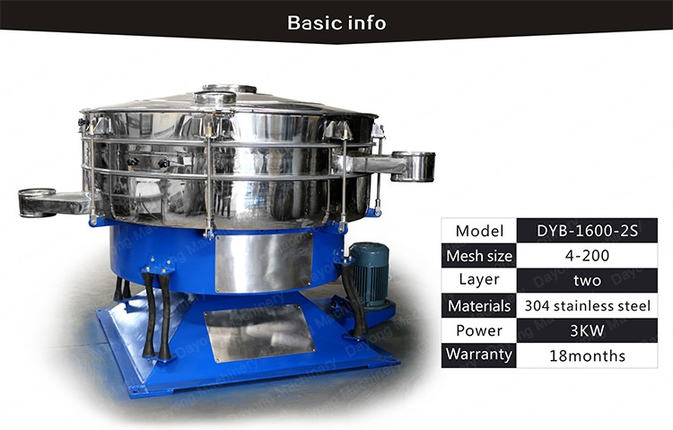 Flexible and Good quality SS304 Tumbler screen machine for PVC powder sieving