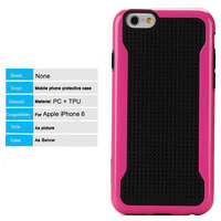2015 unique 2 colors PC tpu combo dot view mobile phone case for iphone 6