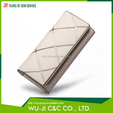 Professional Design Top Grain Lady Leather Women's Wallet Elegant Ladies Leather Vanity Bag