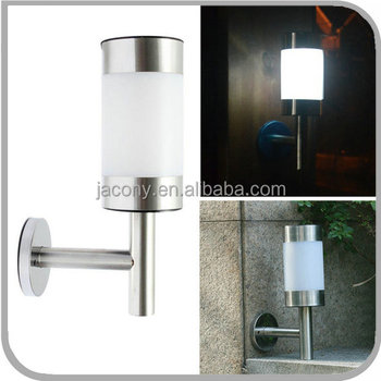Stainless Steel Modern Solar Powered Outdoor Wall Mounted Light Cylinder for Patio Garden Fence Lamp (JL-8501W)