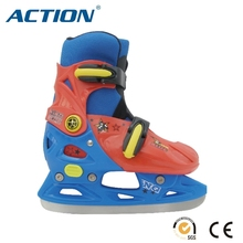 lovely colorful hard shell adjustable ice skate for kids