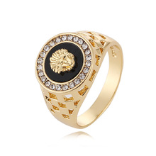 2017 New Men's Ring 18k White and Gold Plated Diamond Ring Latest Designs For Men AR4501
