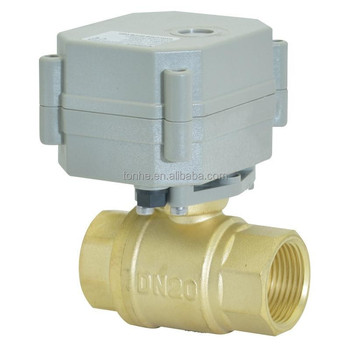 2 Way 3/4 inch CE electric control brass ball valve ROHS lead free valve(T20-B2-C)