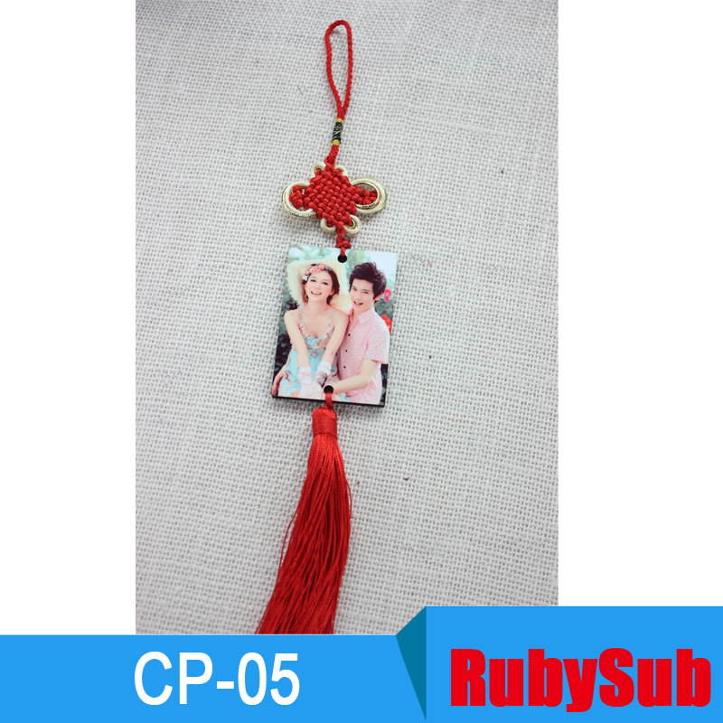 Yiwu Manufacturer Free Sample MDF <strong>Wood</strong> Rectangle Blank Sublimation Car Hanging Pendant CP-05