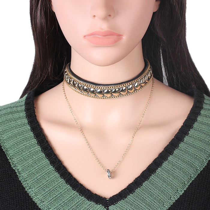 New Style Choker Necklace Ladies Silver Pendant Gold Choker Chains