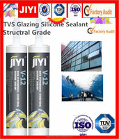 alibaba acetic silicone raw material for construction stsructual fixing and boning silicone sealant V12