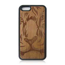 PC+TPU real wood case cheap cell phone case carved wood case for iPhone 6