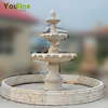 Garden Water Fountain with Travertine material