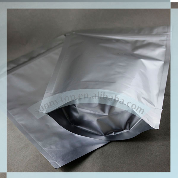 silver aluminum foil vacuum bag custom size and print acceptable