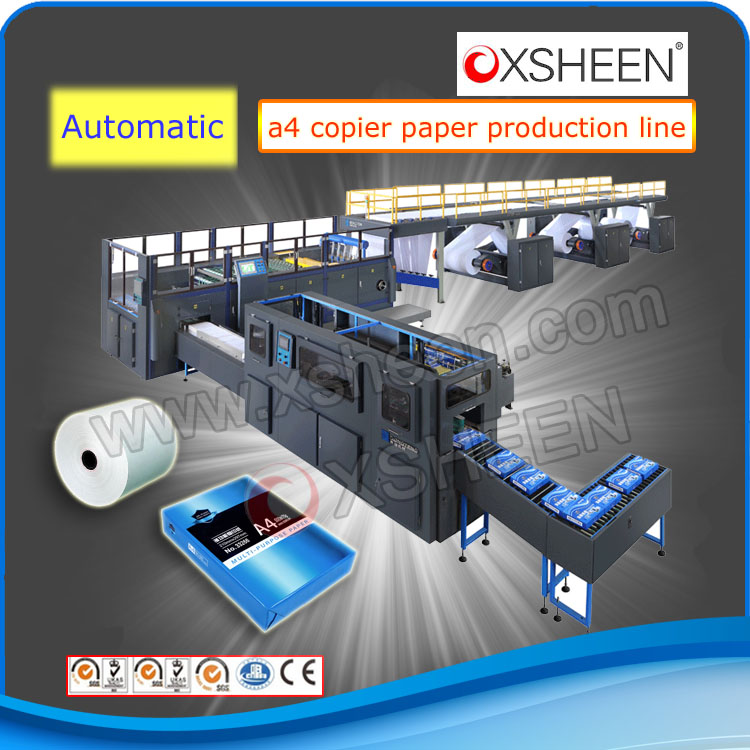 xsheen brand A4 Paper Making Machine/ paper making machine production line with PLC control system