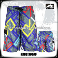 Fashion Branded100% Polyester Board Shorts for Men Printed Brand Swimwear