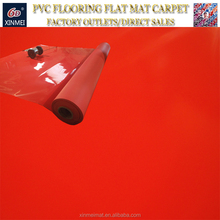 Red PVC Flooring/PVC Plastic Flooring Rolls for Indoor/Gym/Hotel/Hospital/Office/Factory/Warehouse/Shopping Mall/Household