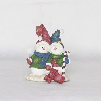 Custom snowman figurine decoration Christmas hook