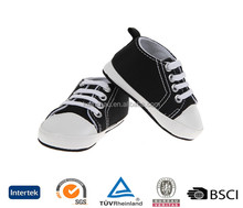 cheap sell online black kids high top lace up low heel 100% cotton link rubber sole canvas shoes