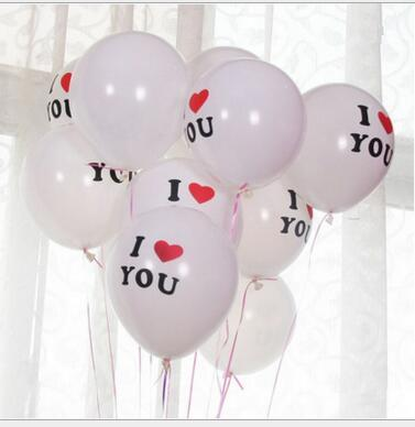 12inch I LOVE YOU  Latex  Globos balloons For  Wedding balloon party Decorations   Inflatable Air Balls Classic toys