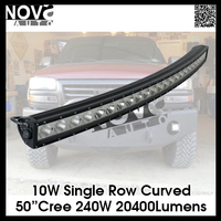 240W Auto lighting system 12v car single stack 50Inch LED Light bar,20400Lumens Driving Light