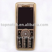 Low Price $80 N89 Gold Mobile Phone,Tri-band,Bluetooth,Camera,Cheap Cell Phone with Diamond, Free Shipping