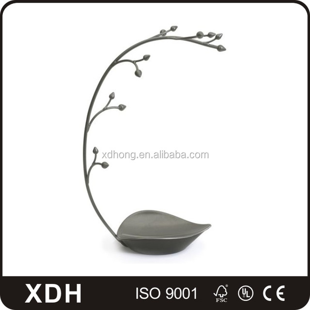 Customized jewelry shop props high end tree shaped display stand,metal jewelry display rack