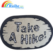 Hot sale welcome door mat entrance jute yarn for carpet for family use