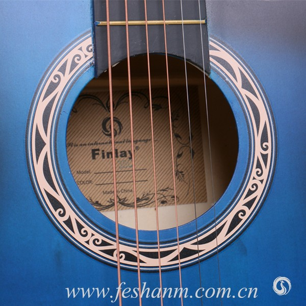 Finlay 38C Colour Hollow Chinese Acoustic Guitar For Student