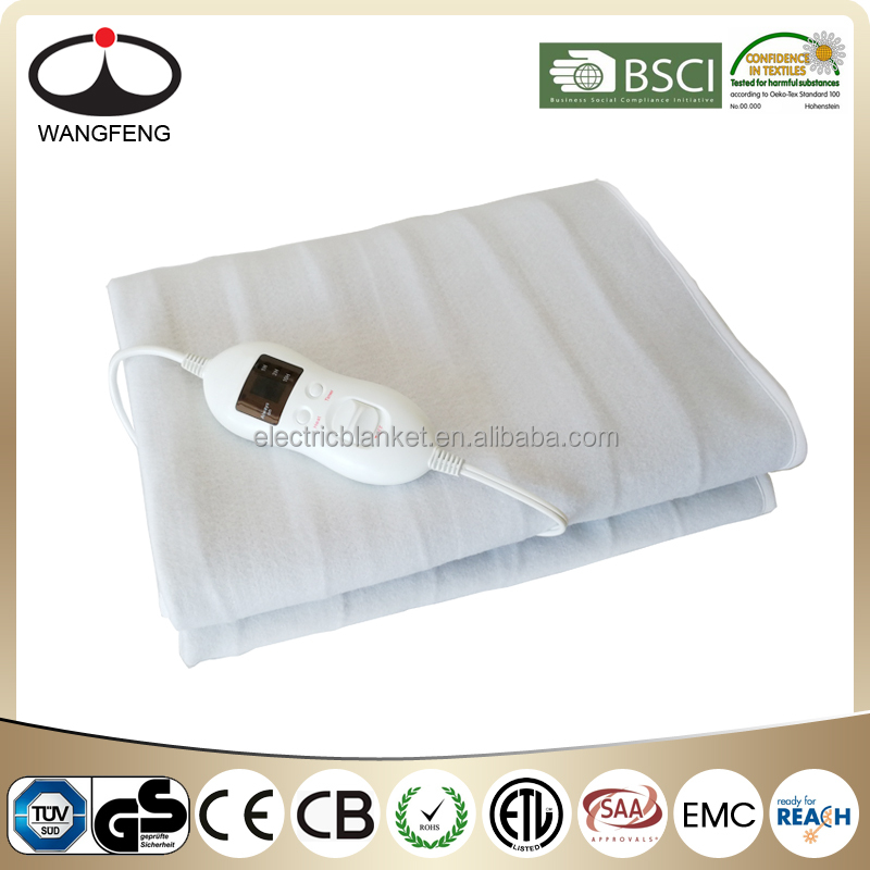 100% Polyester Electric Heating Blanket with timer