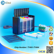 (T1671-T1664) 4 colors ink system for Epson ME-10 ME-101 CISS with auto reset chip
