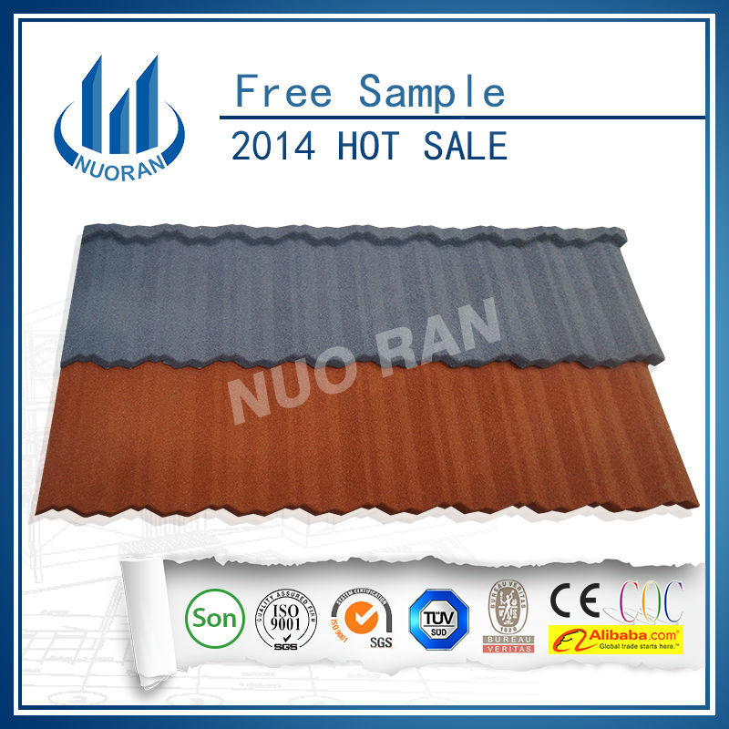 NUORAN big or small sand coated metal roofing tiles