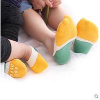 100% cotton silica gel antiskid breathable baby socks