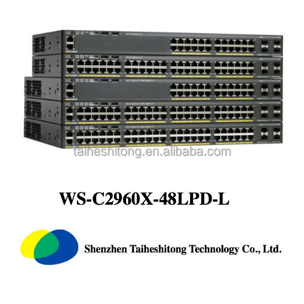 WS-C2960X-48LPD-L 48 port gigabit poe switch 2 layers hardware network