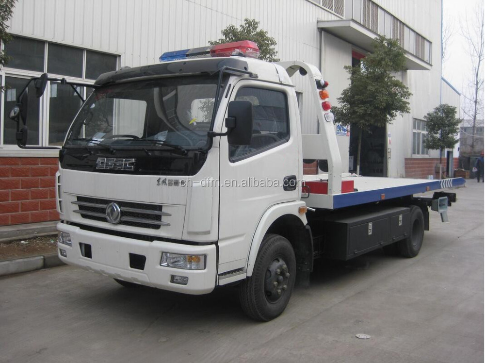 2016 Cheap 1-10tons Dongfeng 4X2 6Wheels road wrecker truck tow truck for sale