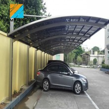 wall mounted waterproof single car parking canopies