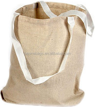 Natural Color Large 100% Cotton Canvas Tote Bags with Web Handle