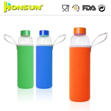Customized Borosilicate hand-made drinking glass water bottle