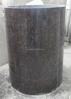 Tan brown granite roumd hollow column pillar