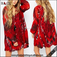 New plus size women clothing , boutique ladies tie dyed dresses kaftan dress