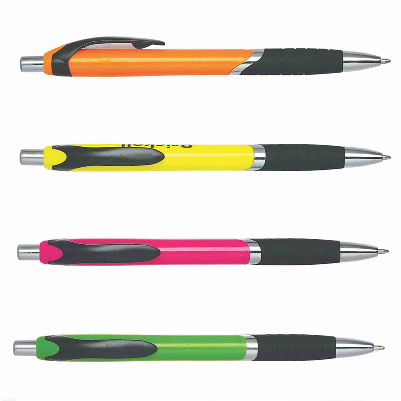 classic ball point pen with logo custom colour silver ring ball pens