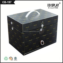 customized black printed cardboard paper foldable containing packing box