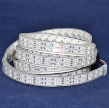 IP67 silicone Tube Waterproof Roll Strip 5m 5050 SMD Led Strip RGB Double Row 120led/m DC 12V