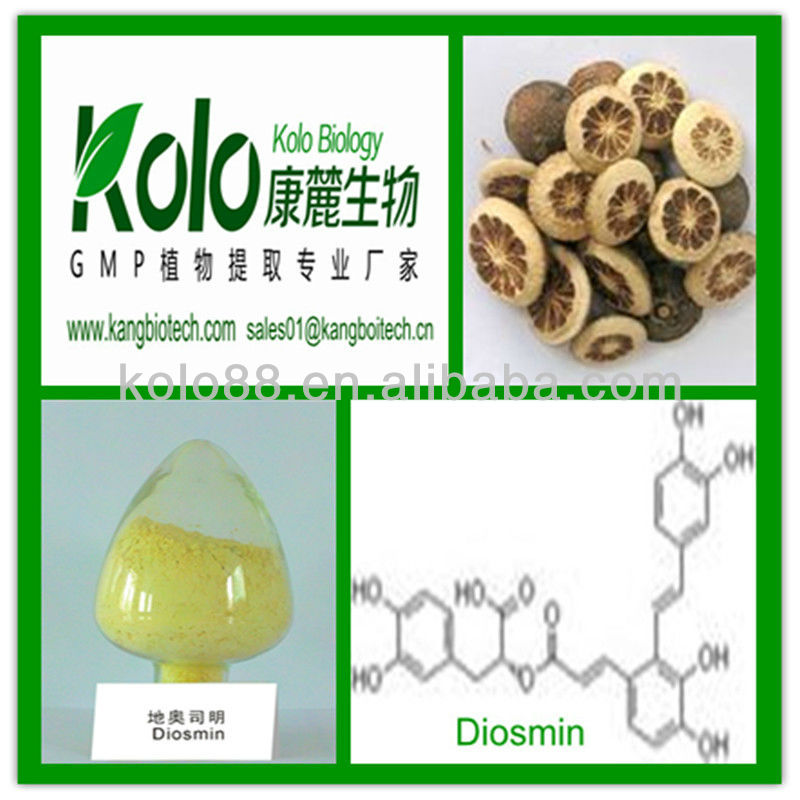 Citrus Diosmine powder 90% solvent extraction plant extract cas no. 520-27-4 hplc gmp factory