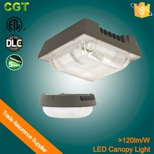DLC ETL 50W 75w 100w 120w Surface mounted canopy fixture,universal 100-277V operation,led canopy light garden lights