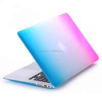 rainbow color cover With customized logo Rainbow Design case for macbook 13'' Eco-friendly PC Pro Retina 13'' for macbook case