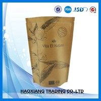Eco Friendly Customized paper food bags/stand up pouches packaging