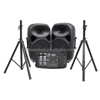 BHS PD10SS combo PA system 2 plasitc speaker with one mixer portable sound set