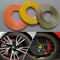 8m/roll Self Adhesive Auto Motorcycles Exterior Accessories Car Sticker Wheel Rim Protectors