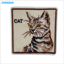 Garment accessories lovely custom made iron on cat embroidery patch
