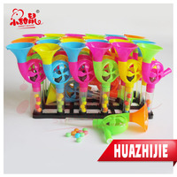 Plastic Trumpet Toy Candy With Bell Manufacture Factory