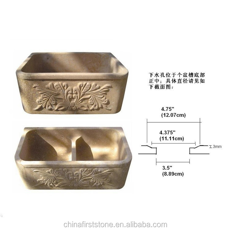 Newest arrival wholesale different types of stone bathroom sink kitchen sinks bath tub On Sale